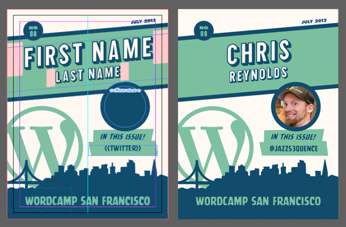 Personalized Badges With InDesign Make WordPress Communities - Conference badge template